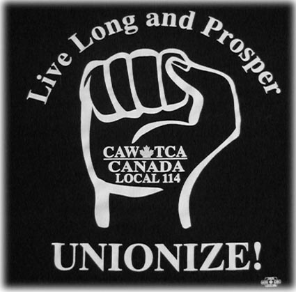 Live Long and Prosper  UNIONIZE!  T-Shirts are for sale click here